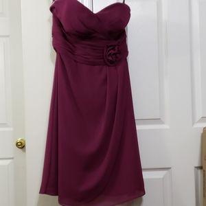 Bill levkoff strapless purple dress size 10